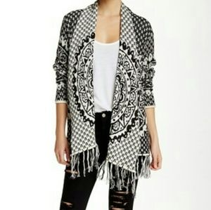 RIP CURL Celestial Cardigan in black and white